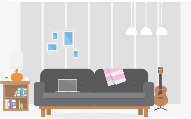 650x405 Vector Living Room, Living Room, Vector, Indoor Png Image And