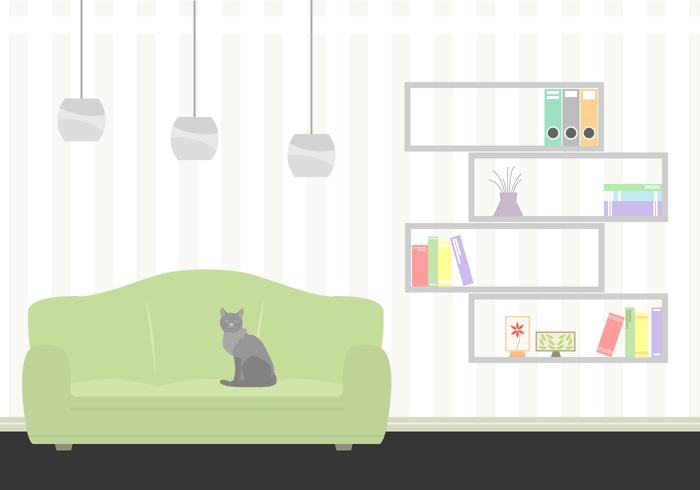700x490 Free Living Room Vector Illustration Living Room Ideas
