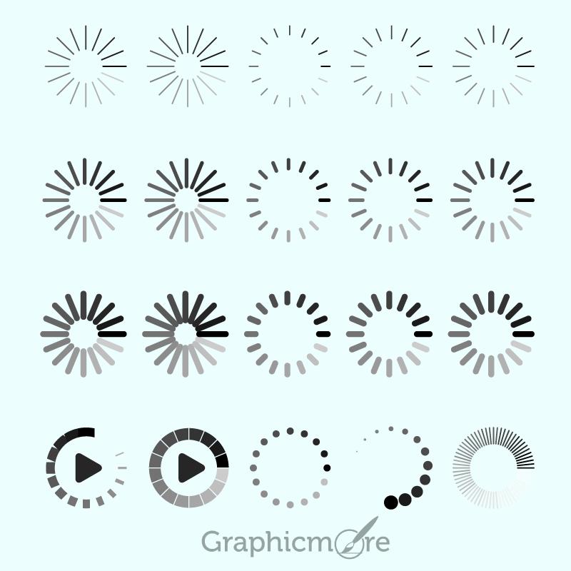800x800 Loading Icon Design Free Vector File By Graphicmore