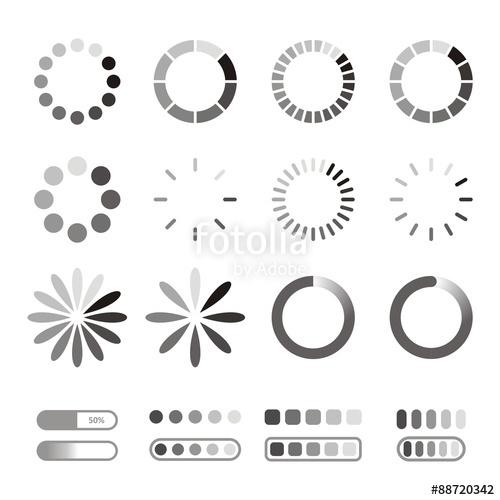 500x500 Loading Icons