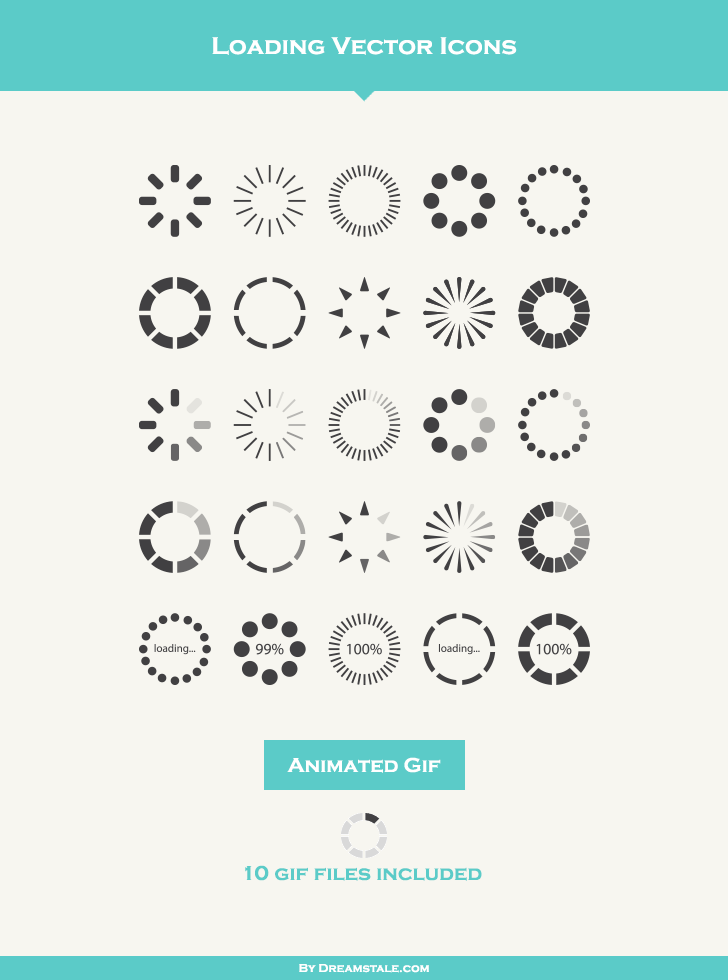 728x980 Loading Vector Icons (Freebie) On Behance