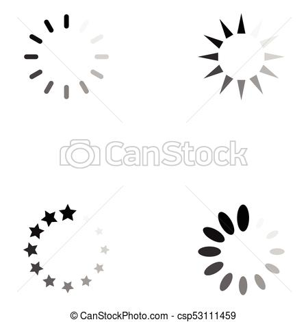 450x470 Loading Icon Set Clipart Vector