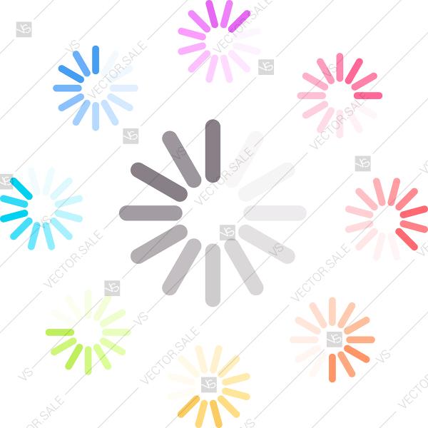 600x600 Loading Icon Vector Illustration