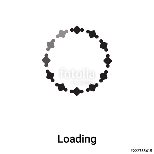 500x500 Loading Icon Vector Isolated On White Background, Logo Concept Of