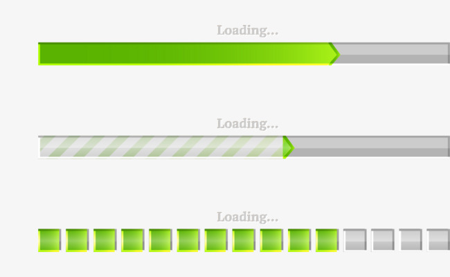 650x400 Vector Green Progress Bar, Green Progress Bar, Loading, Vector Png