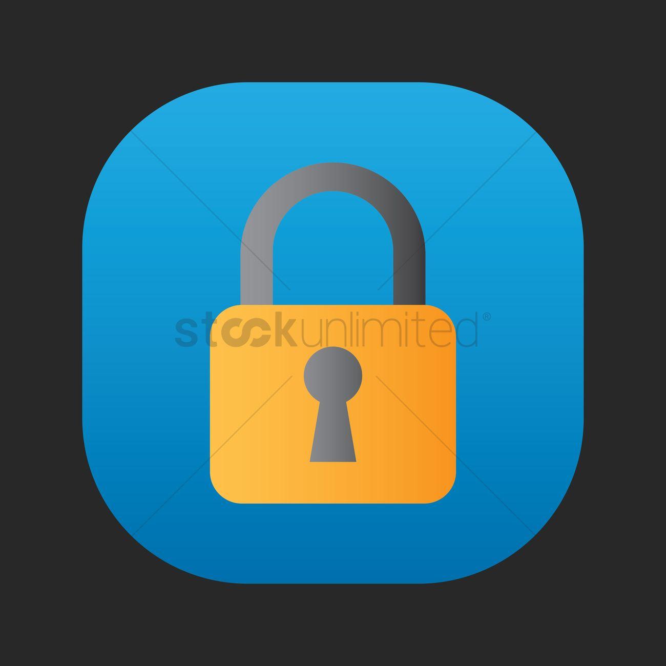 1300x1300 Lock Icon Vector Image