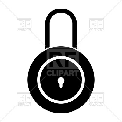 400x400 Closed Lock Icon On White Background Vector Image Vector Artwork