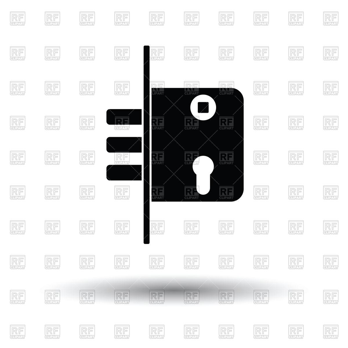 1200x1200 Door Lock Icon Vector Image Vector Artwork Of Signs, Symbols