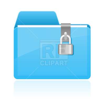 400x400 Folder With Lock Icon Vector Image Vector Artwork Of Icons And