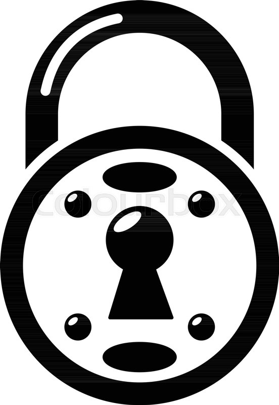 552x800 Lock Icon. Simple Illustration Of Lock Vector Icon For Web Stock