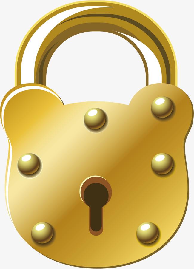 650x902 Gold Lock Png Vector Element, Gold Vector, Lock Vector, Gold Lock
