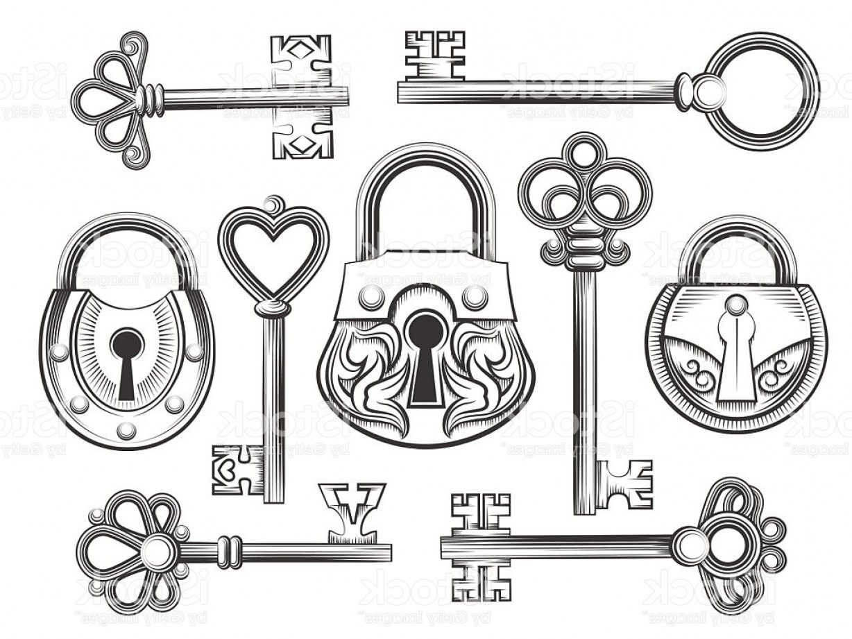 1228x921 Hand Drawn Vintage Key And Lock Vector Set Gm Arenawp