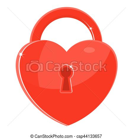 450x470 Red Heart Lock. Heart As The Key To The Lock. Sincere Feelings