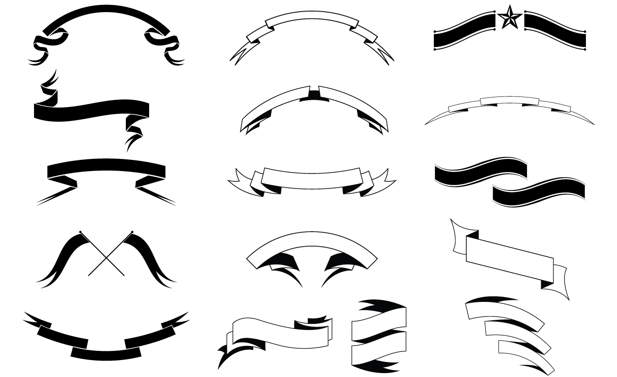 1270x778 Banners And Ribbons Vector Pack