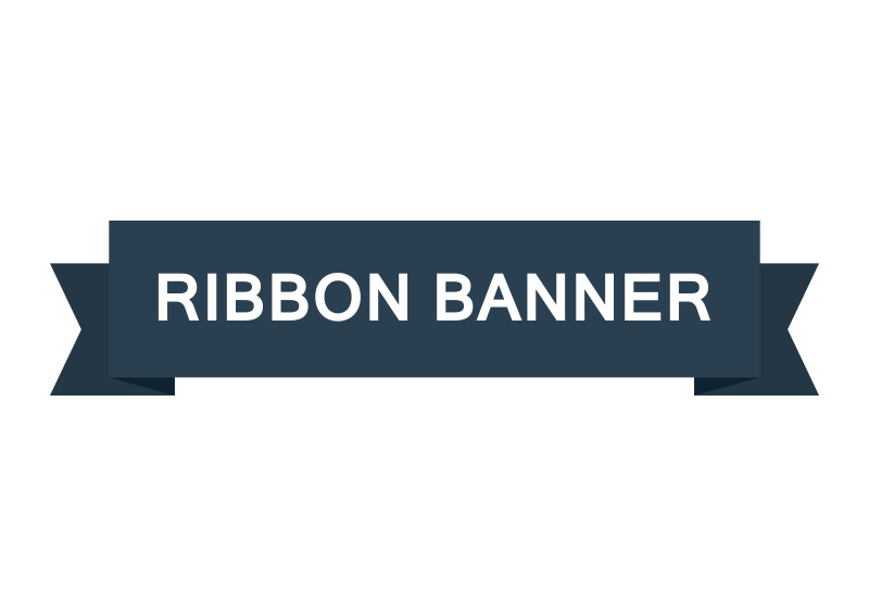800x566 Flat Ribbon Banner Vector