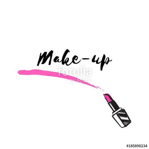 500x500 Makeup Artist Banner. Vector Template.business Concept. Lipstick