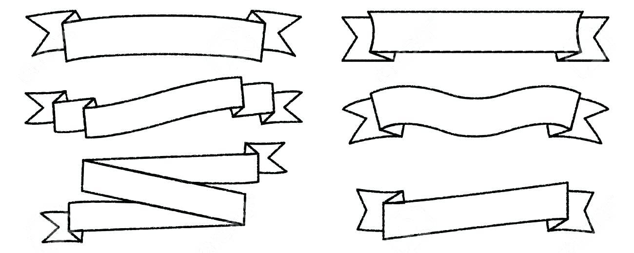 1300x519 Scroll Work Vector Banner Design Template Templates For Word Art