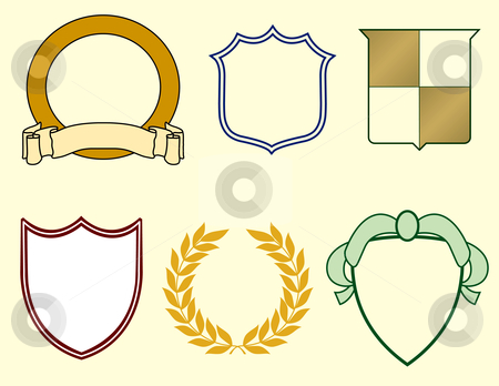 450x348 Six Items For Logos Stock Vector