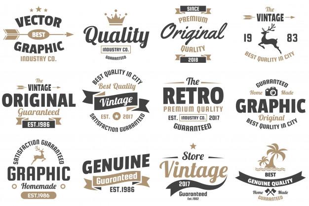 626x417 Vintage Retro Vector Logo For Banner Vector Premium Download