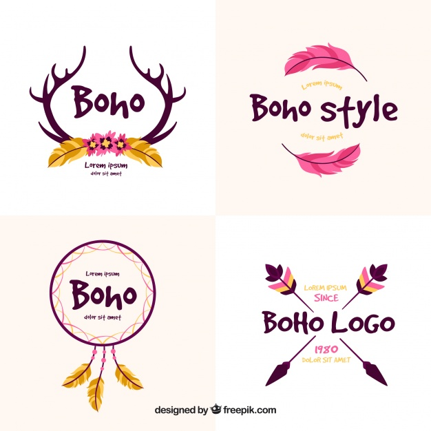 626x626 Decorative Logos With Ethnic Elements Vector Free Download