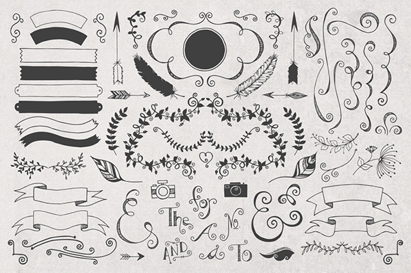 600x399 Hand Drawn Logo Templates + Elements On Behance