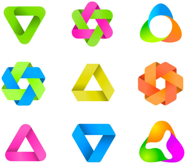 600x531 Set Of Colored Abstract Logo Design Elements Vector 05 Free Download