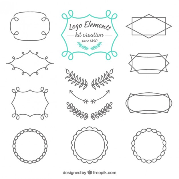 626x626 Sketches Logo Elements Vector Premium Download