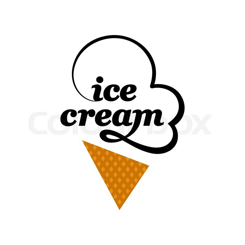 800x800 Vector Ice Cream Logo Icon Design Template Elements. Stock