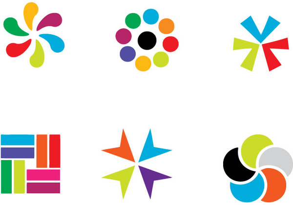 600x421 Colorful Vector Logo Elements Free Vector In Adobe Illustrator Ai