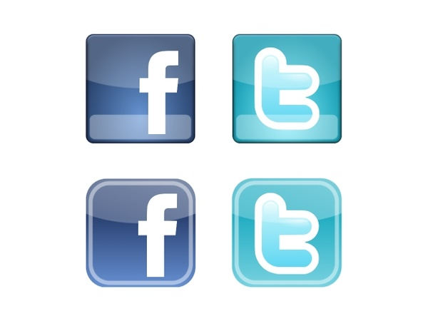 600x450 Facebook Amp Twitter Icons Free Vector In Encapsulated Postscript