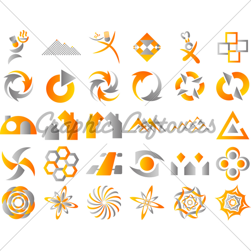 500x500 Abstract Vector Logo Icon Design Elements Gl Stock Images