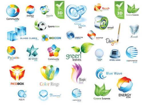500x375 Beautiful 3d Stereo Logo Icon Vector Material