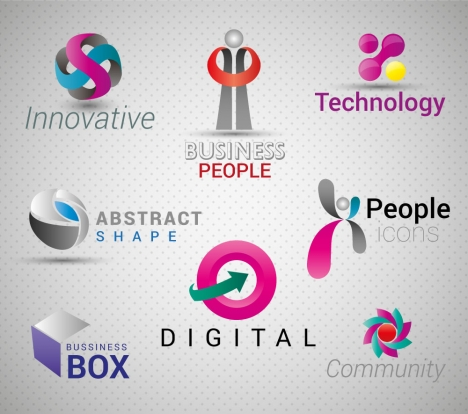 468x414 Abstract Business Logo Icons Vector Illustration Vectors Stock In