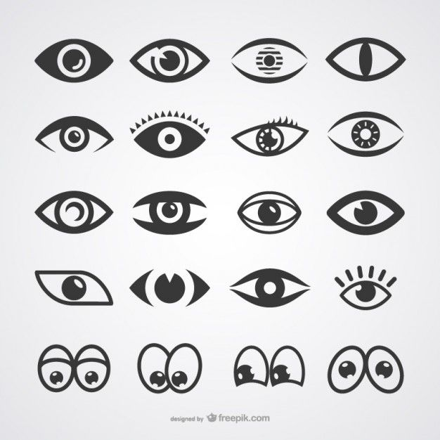 626x626 Eyes Icons Collection Free Vector Free Vectors