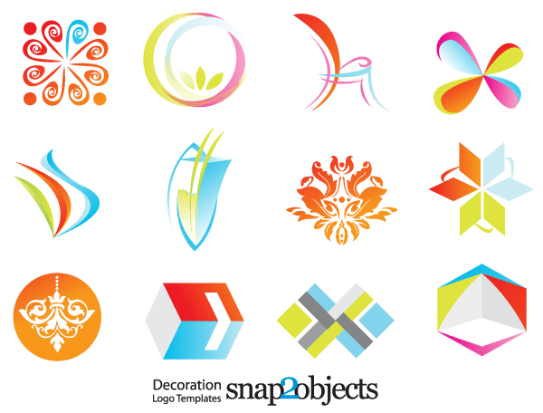 600x456 Free Decoration Logo Template Vector Icons 123freevectors