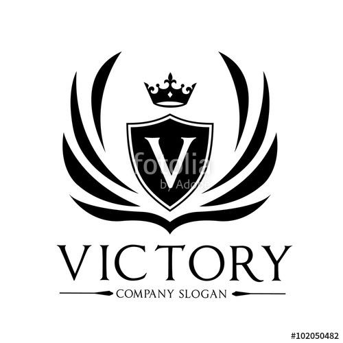 500x500 Victory Logo,crest Logo,hotel Logo,king Logo,crown Logo,vector