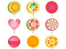 220x165 3 Delicious Lollipop Vector [Ai]