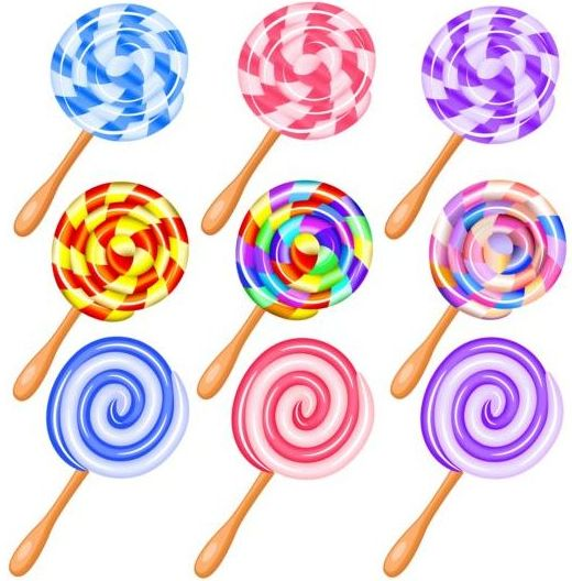 520x528 Cute Lollipop Vector Set Free Download