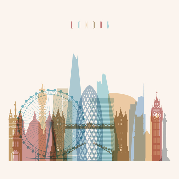 600x600 London Building Vector Illustration Free Download