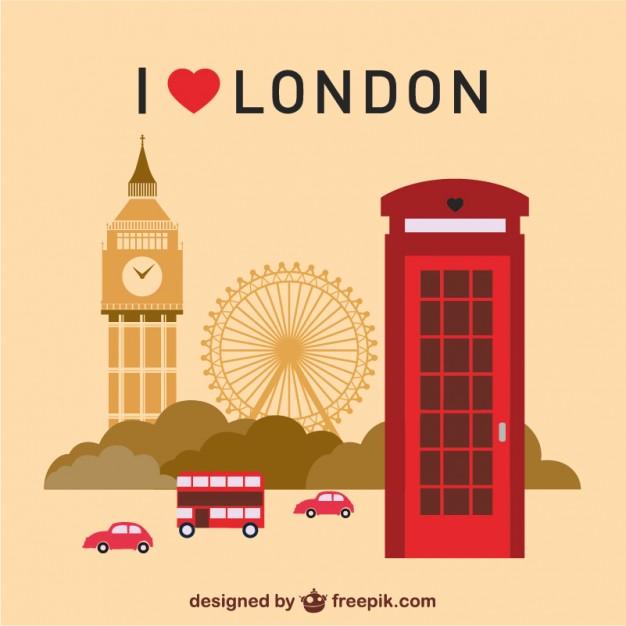 626x626 London Landmarks Set Vector Free Download