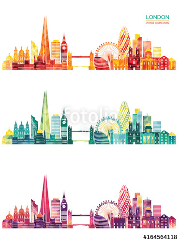 372x500 London Skyline. Vector Illustration Stock Image And Royalty Free
