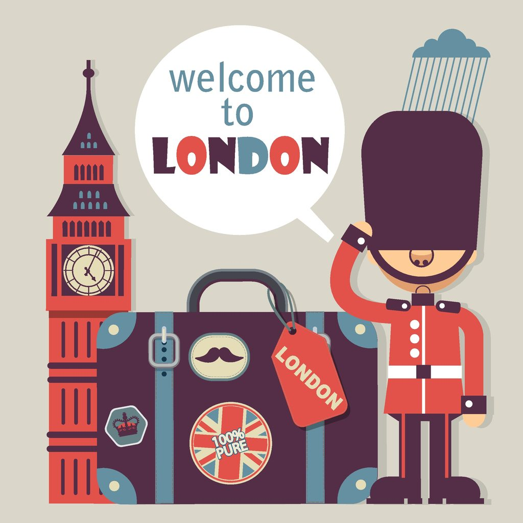 1024x1024 London Vector Flat Style Background
