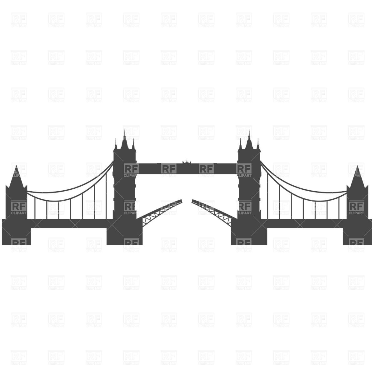 1200x1200 Tower Bridge, London Vector Image Vector Artwork Of Travel