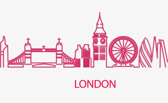 650x400 Vector Neon London Building, Big Ben, London, Vector Png And