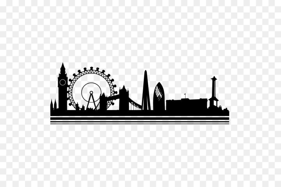 900x600 Wall Decal Skyline City Vinyl Group Sticker