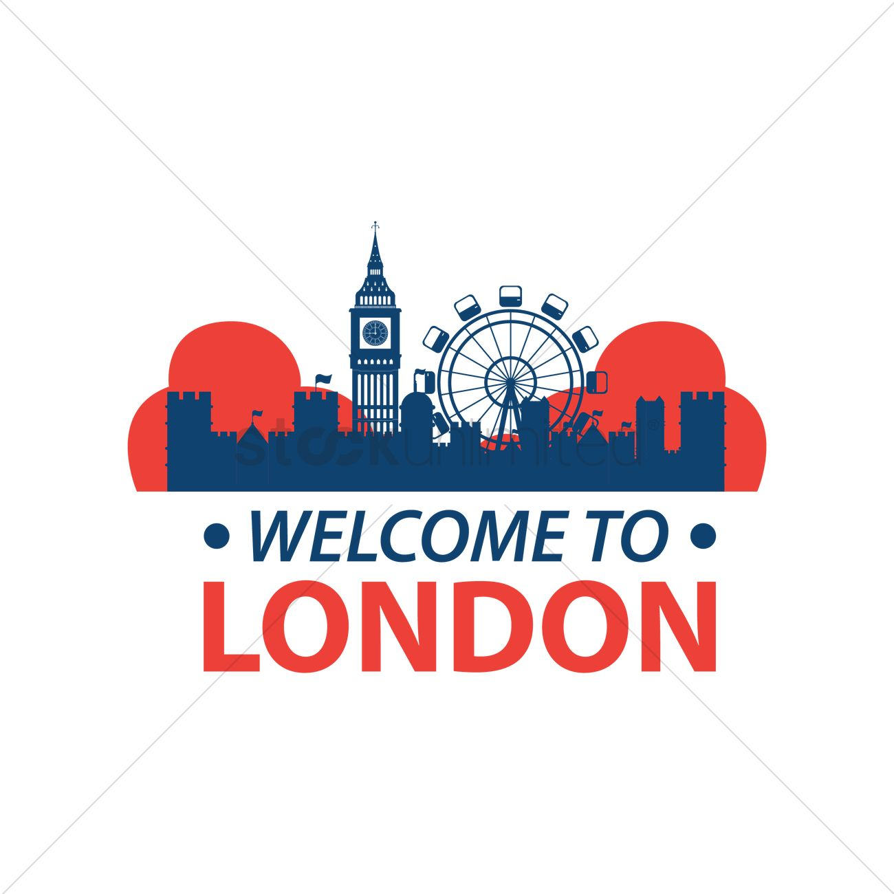 1300x1300 Welcome To London Vector Image