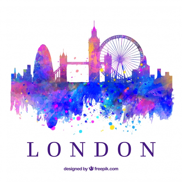 626x626 Colorful Skyline Of London Vector Free Download