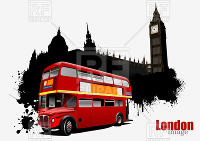 400x282 Double Decker Bus In Front Of Silhouette Palace Of Westminster And