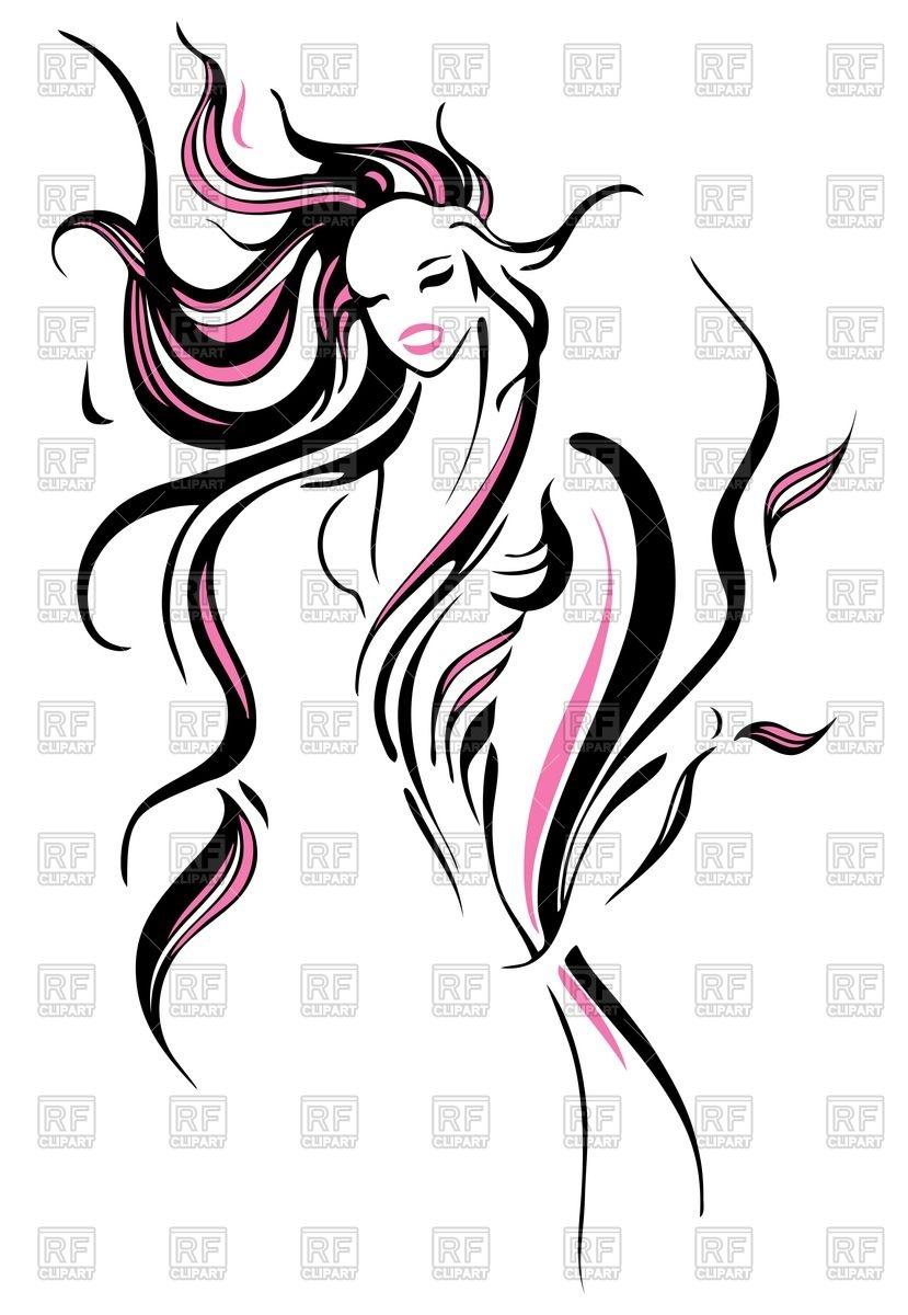 Long Hair Vector