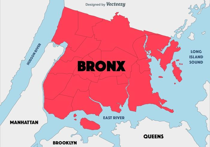 700x490 Abstract Background Of The Bronx Map